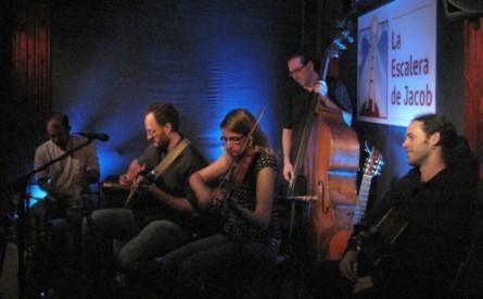 David Sanz y los músicos