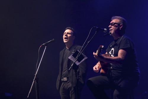Tabaré Cardozo y León Gieco, fotografía: Sergio Zeni