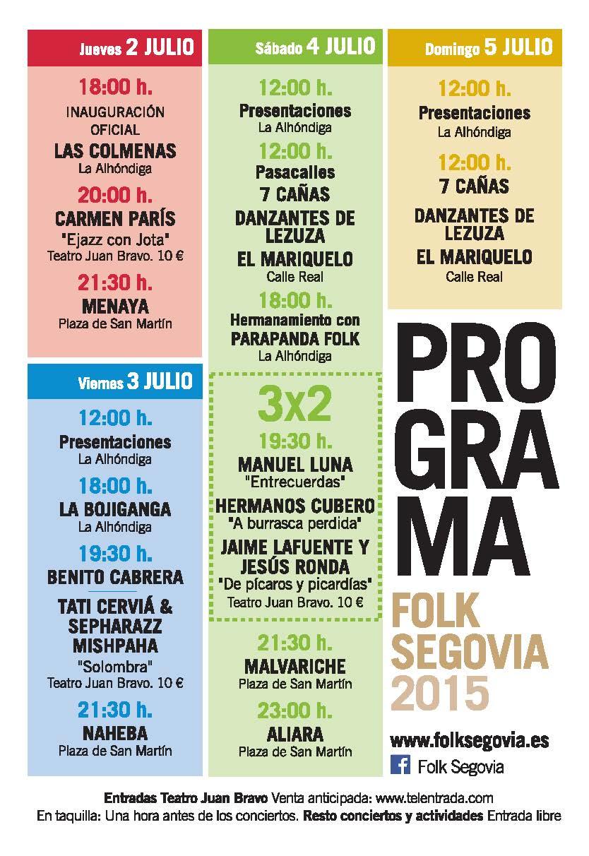 folk Segovia programa