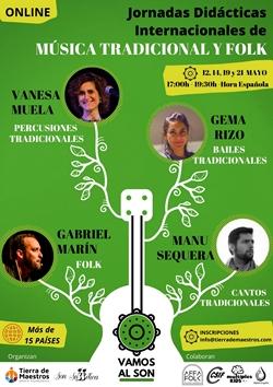 cartel Jornadas Internacionales Música Folk